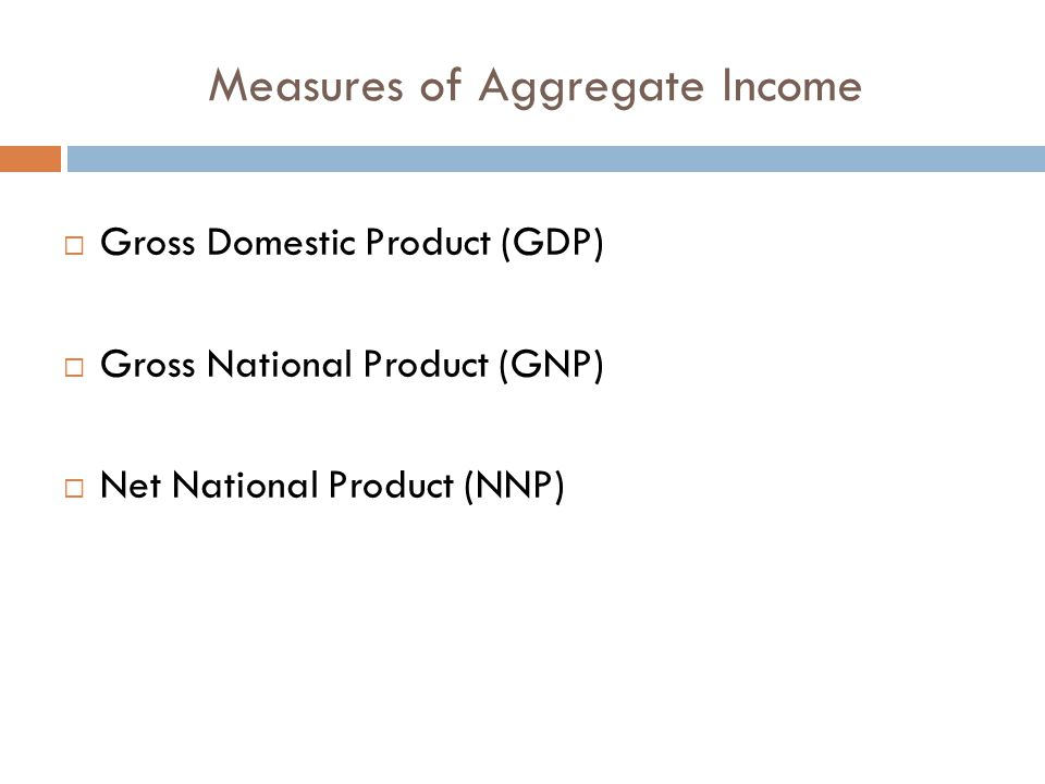 Measures of Aggregate Income