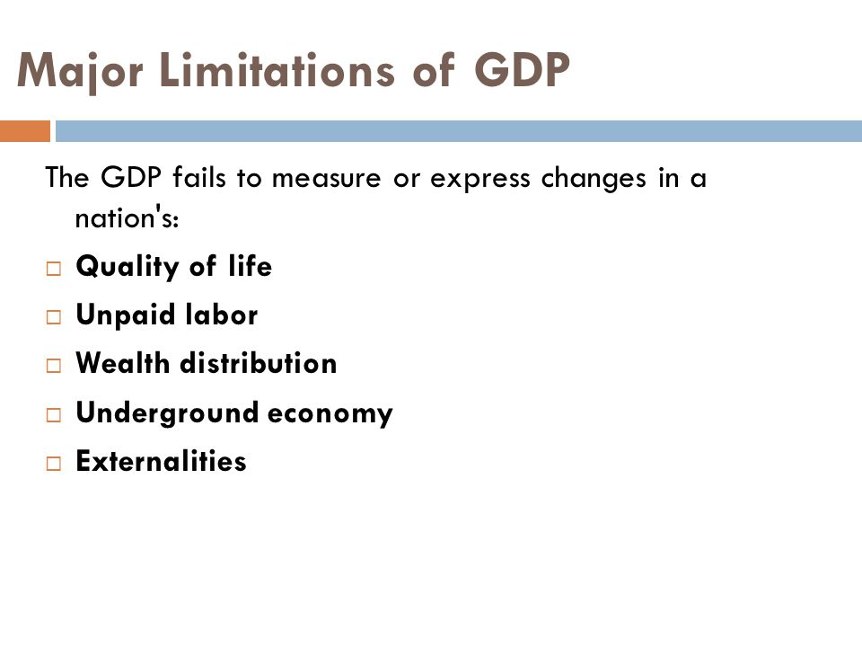 Major Limitations of GDP