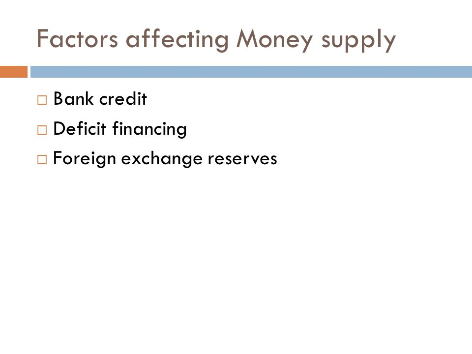 Factors affecting Money supply