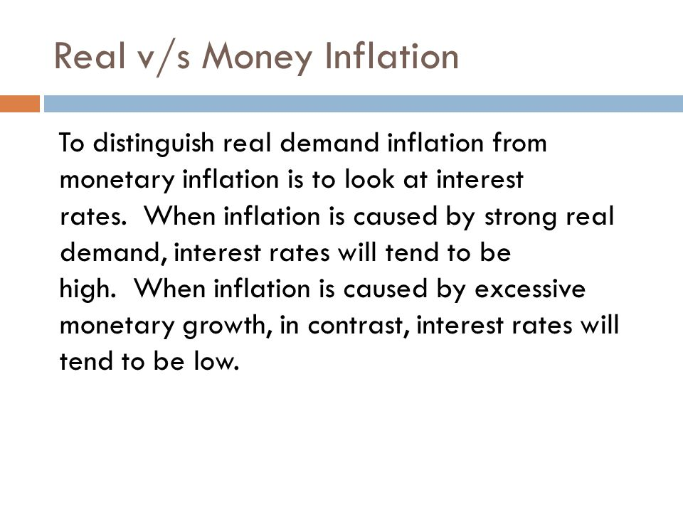 Real v/s Money Inflation