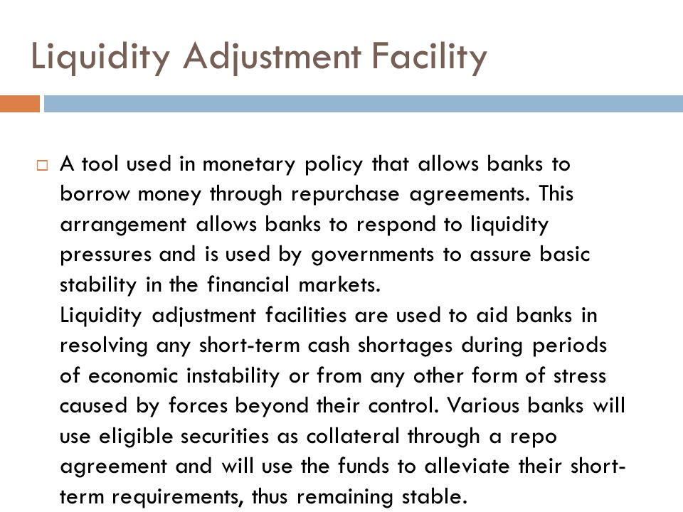 Liquidity Adjustment Facility