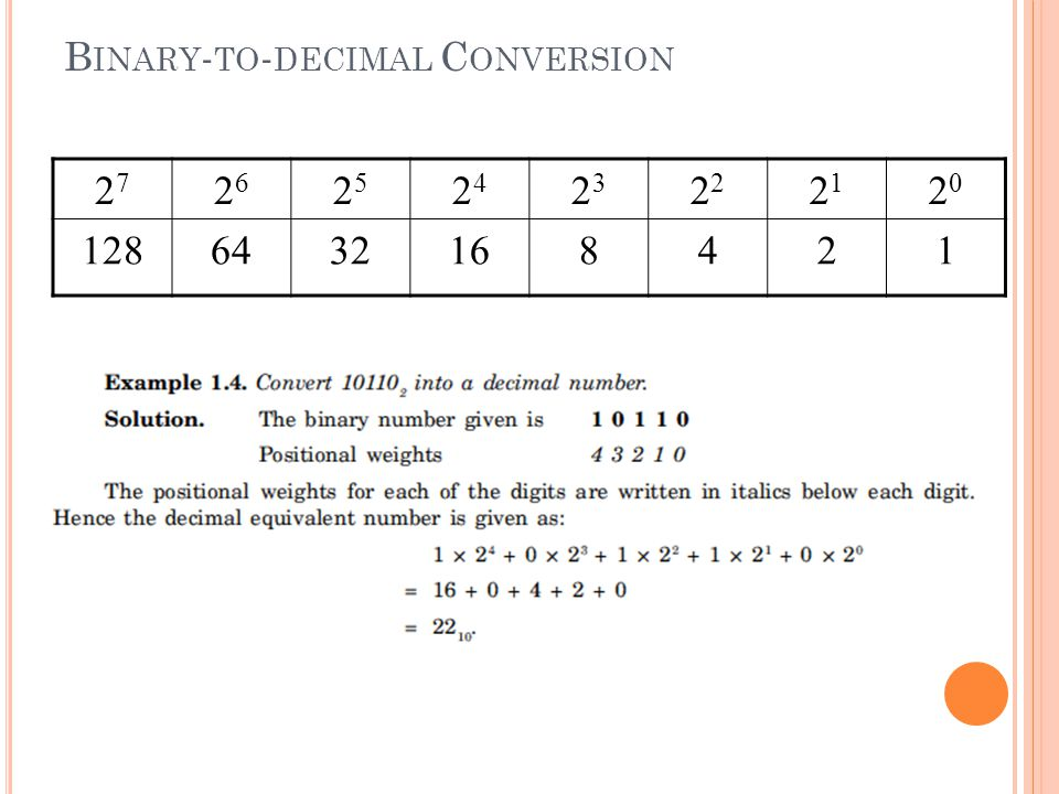 Binary-to-decimal Conversion