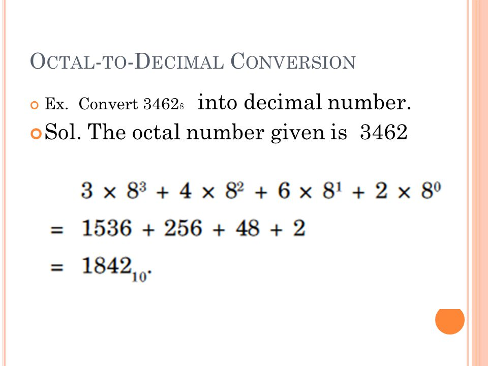Octal-to-Decimal Conversion