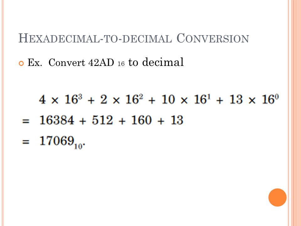 Hexadecimal-to-decimal Conversion