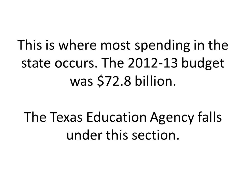 This is where most spending in the state occurs