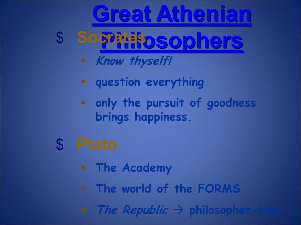 Great Athenian Philosophers
