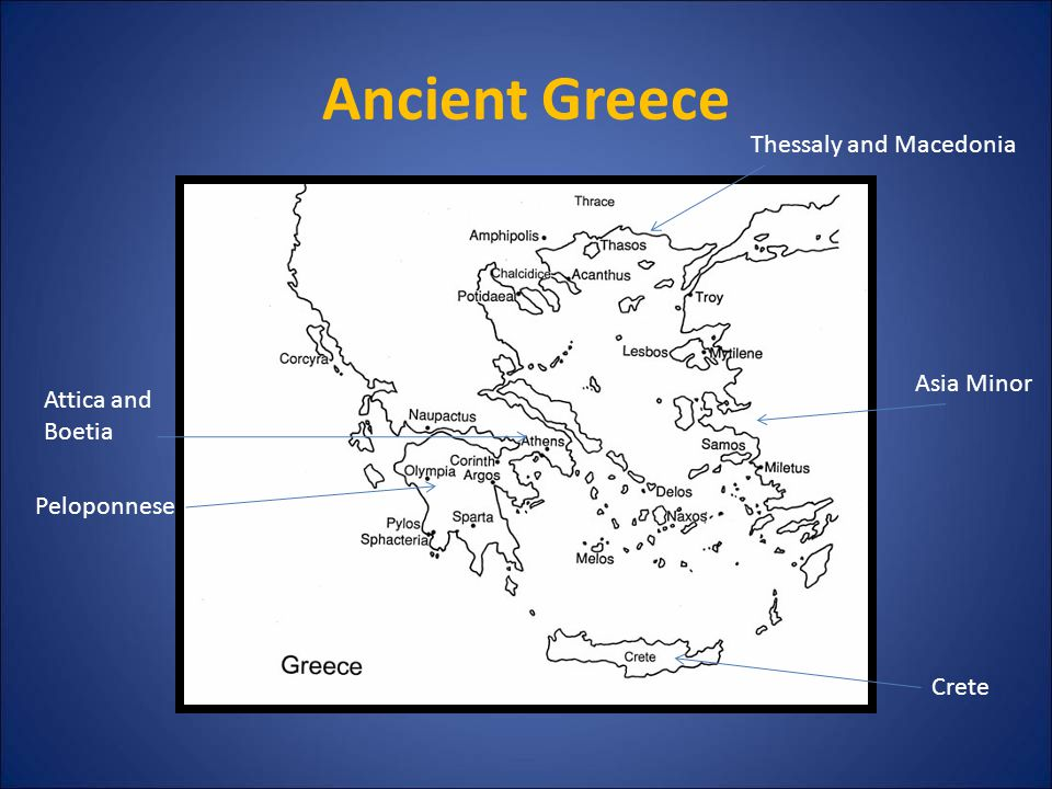 Ancient Greece Thessaly and Macedonia Asia Minor Attica and Boetia