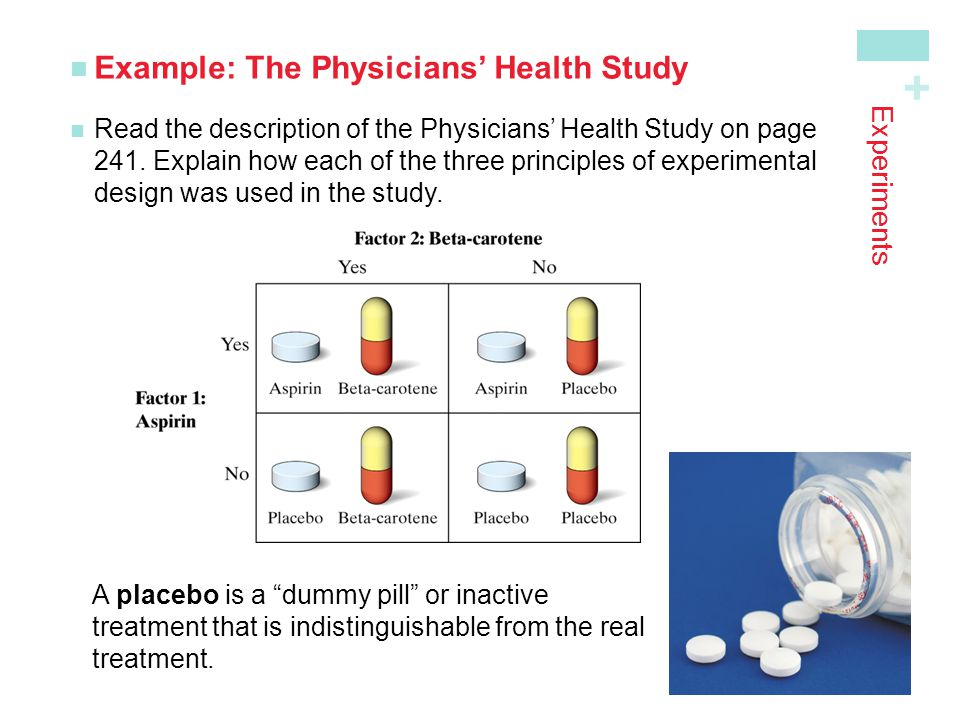 Example: The Physicians' Health Study