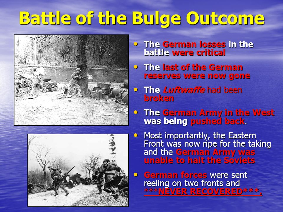 Battle of the Bulge Outcome
