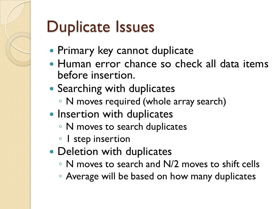 Duplicate Issues Primary key cannot duplicate