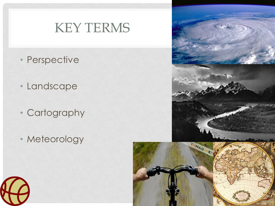 Key Terms Perspective Landscape Cartography Meteorology