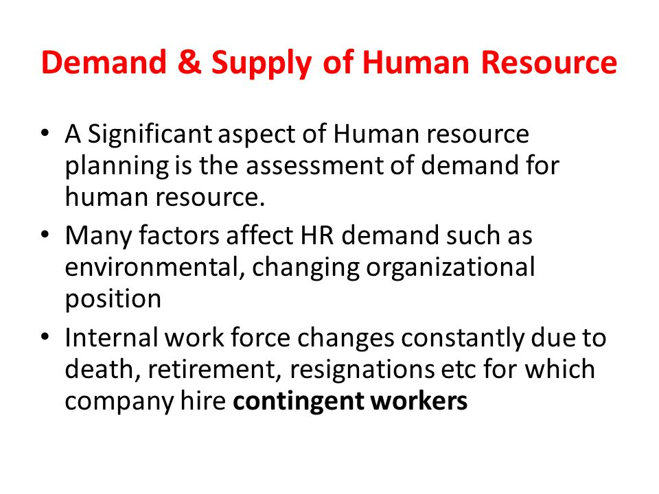 Demand & Supply of Human Resource