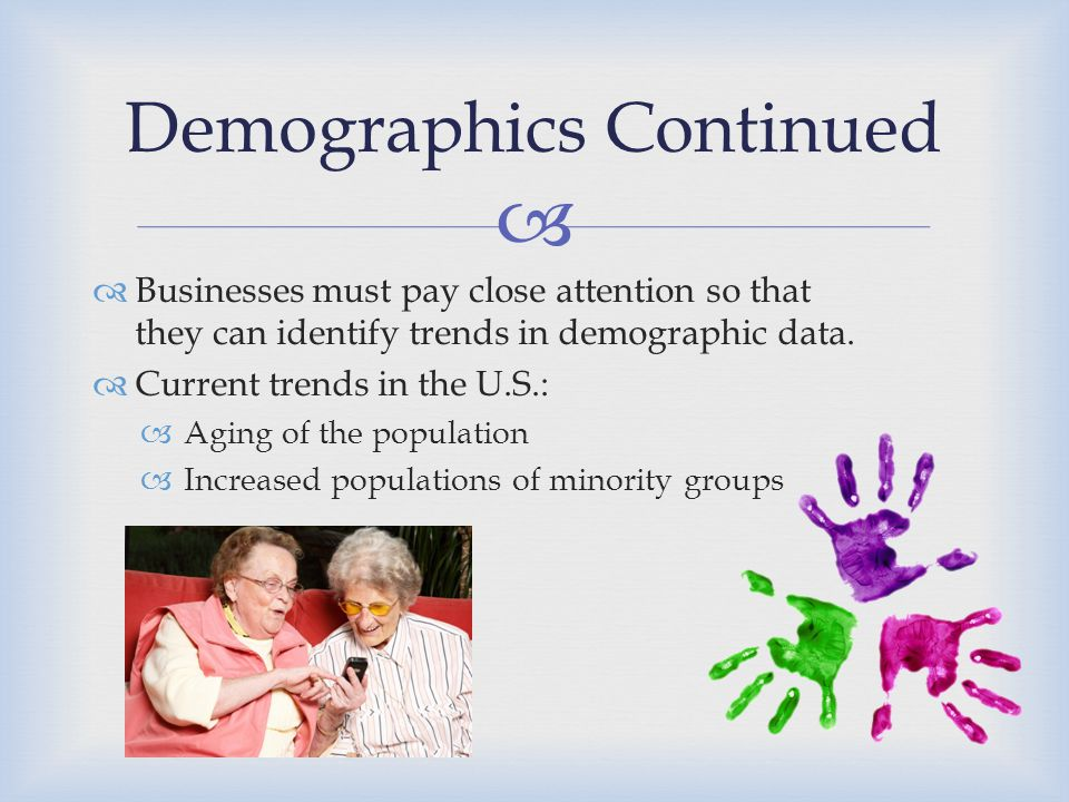 Demographics Continued