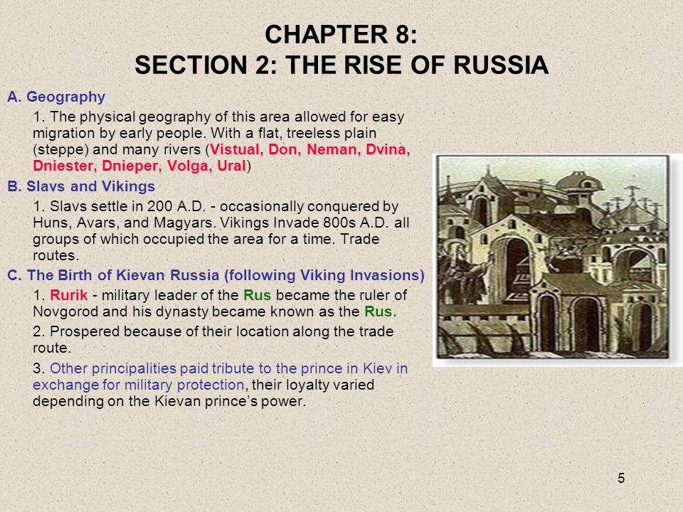 CHAPTER 8: SECTION 2: THE RISE OF RUSSIA