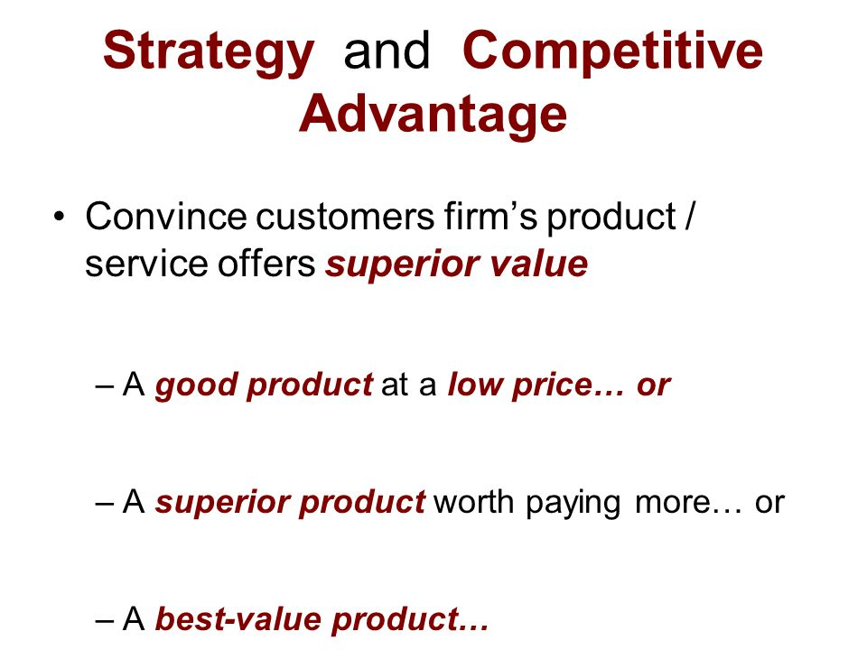 strategy and competitive advantage pdf