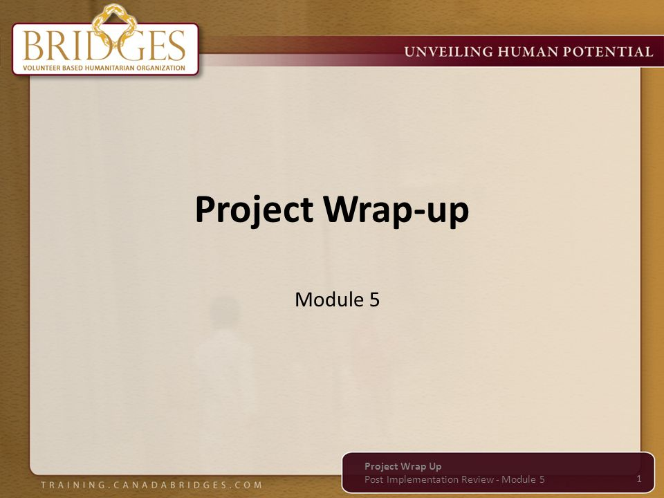 Project Wrap-up Module 5 Project Wrap Up