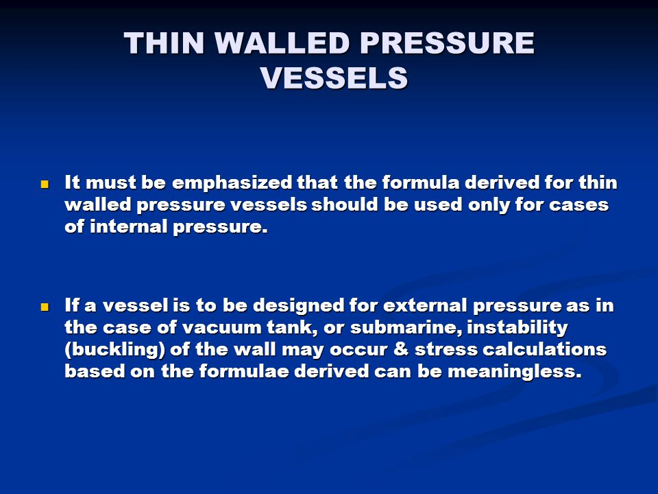 INTRODUCTION TO PRESSURE VESSELS - ppt video online download