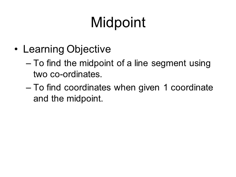 Midpoint Learning Objective
