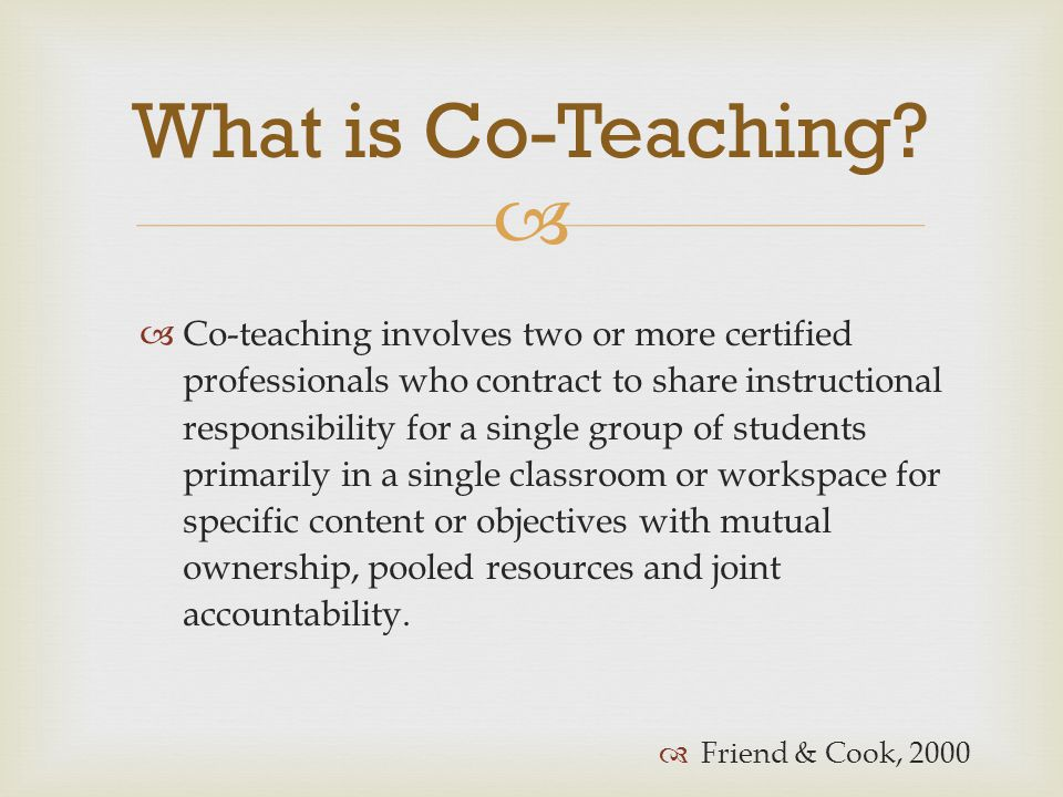 What is Co-Teaching