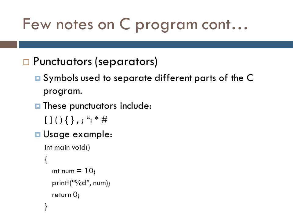 Fundamental Of C Programming Language And Basic Input Output