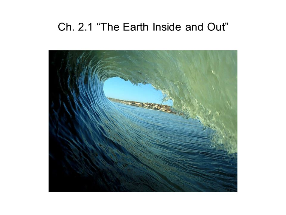 Ch. 2.1 The Earth Inside and Out