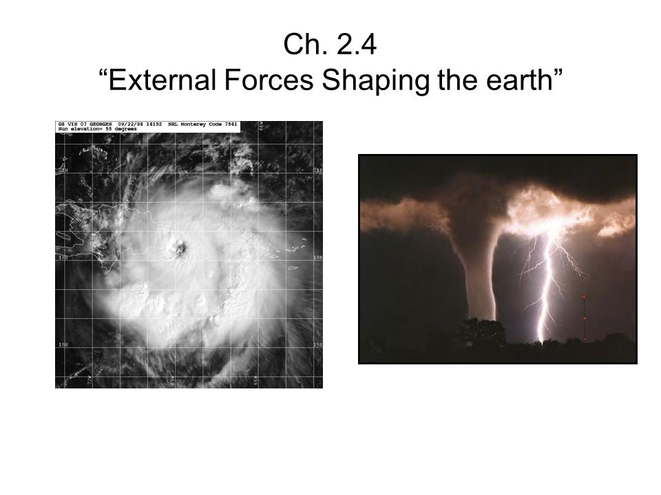 Ch. 2.4 External Forces Shaping the earth
