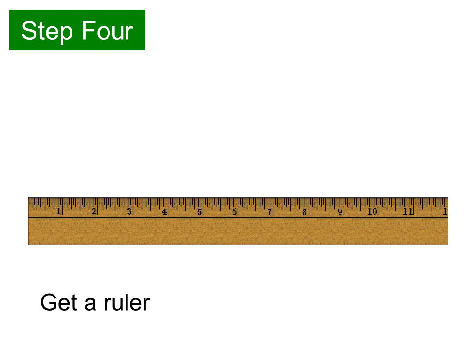 Step Four Get a ruler