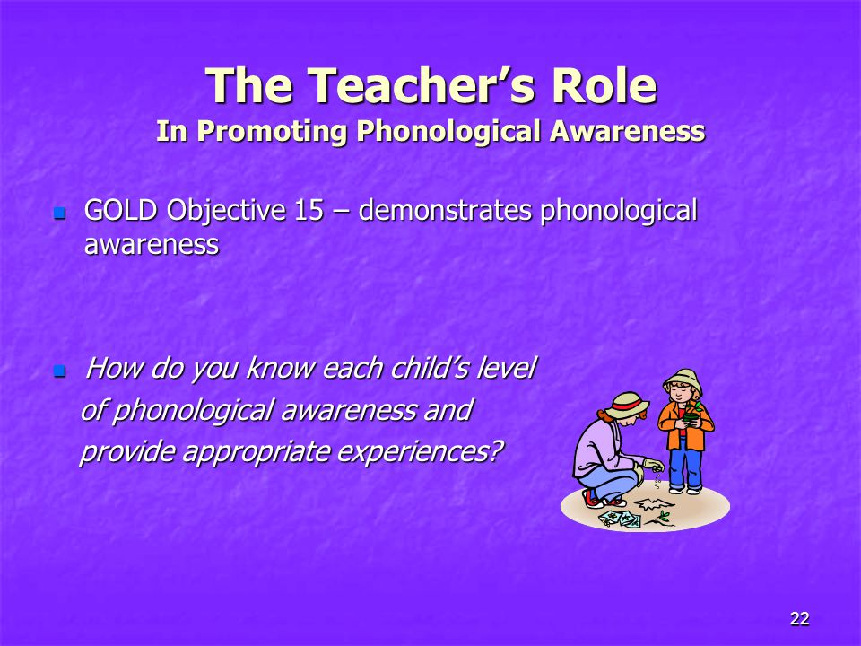 The Teacher's Role In Promoting Phonological Awareness