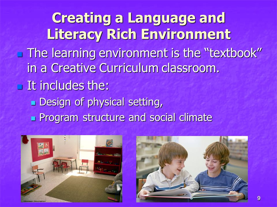 Creating a Language and Literacy Rich Environment