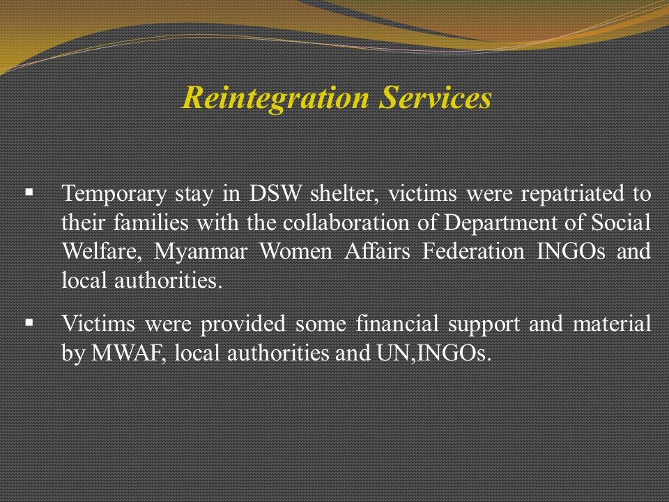 Reintegration Services