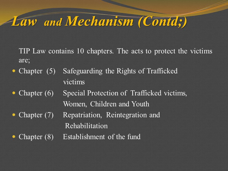 Law and Mechanism (Contd;)