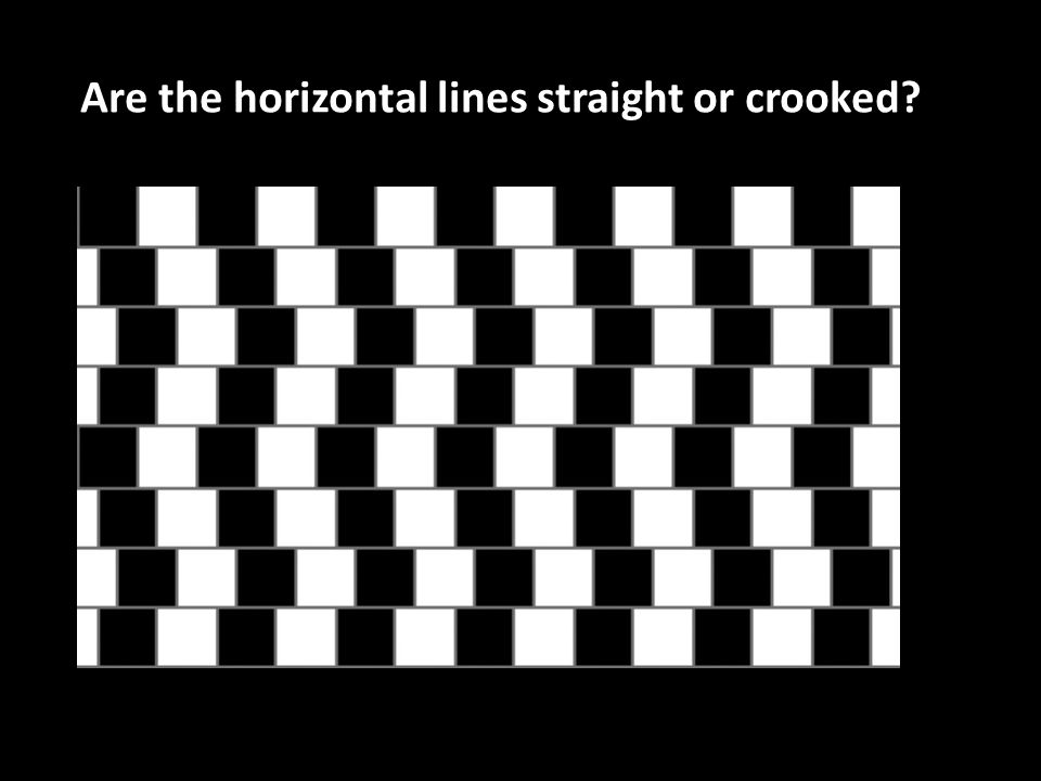 Are the horizontal lines straight or crooked