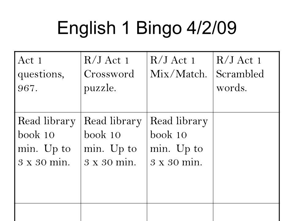 Monday, 3/16/09 English 1 Homework - ppt video online download