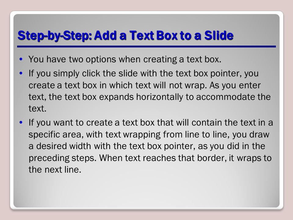 Step-by-Step: Add a Text Box to a Slide