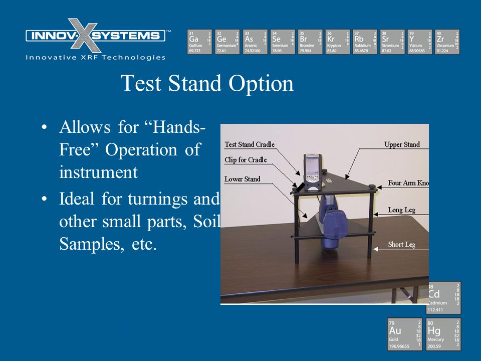 Test Stand Option Allows for Hands-Free Operation of instrument