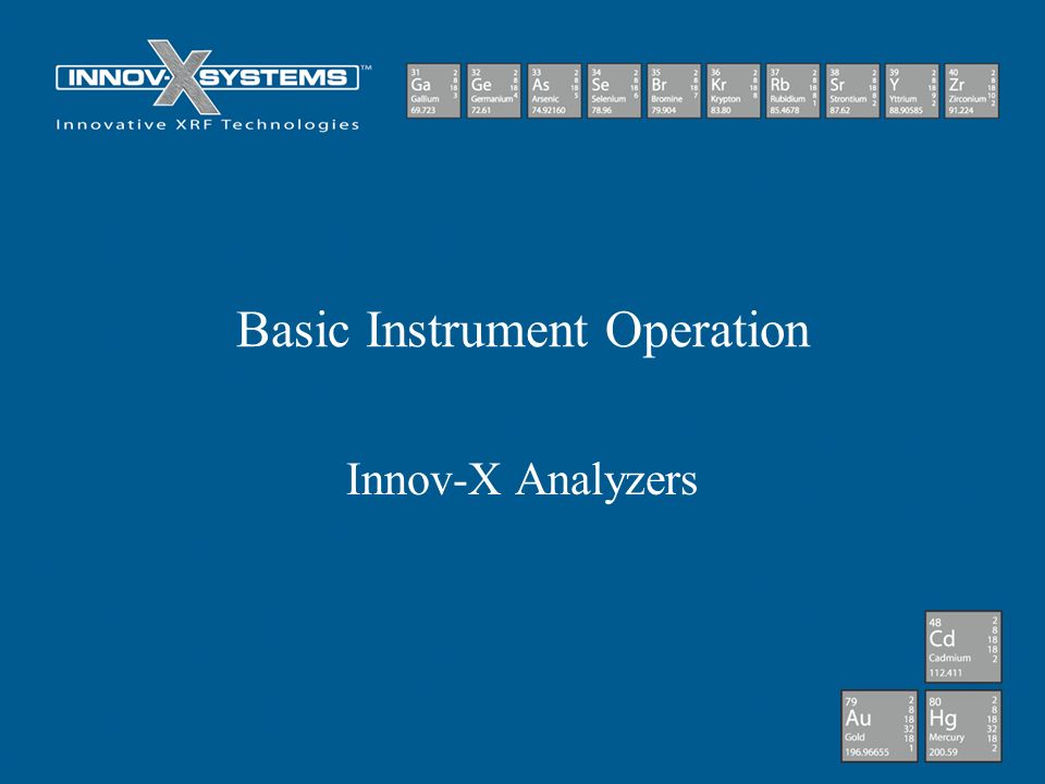 Basic Instrument Operation