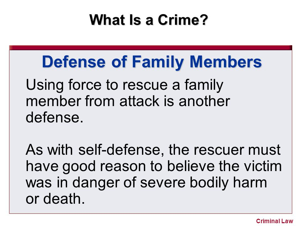 Defense of Family Members
