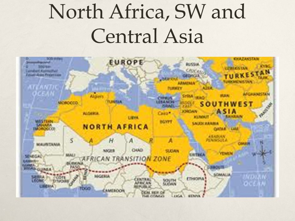 North Africa, SW and Central Asia