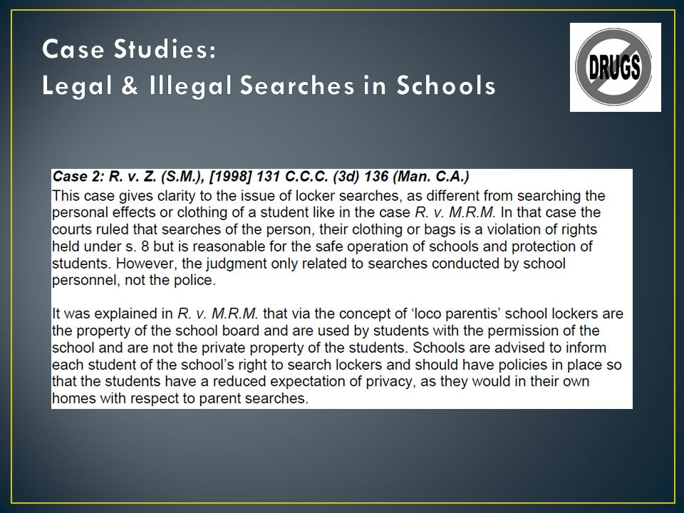 Case Studies: Legal & Illegal Searches in Schools