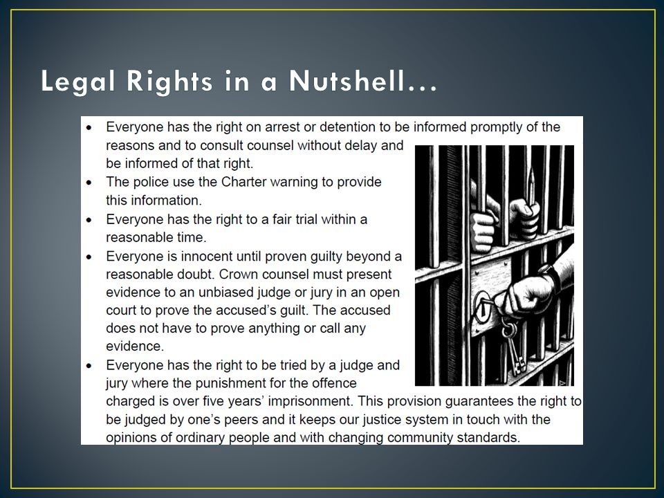 Legal Rights in a Nutshell…