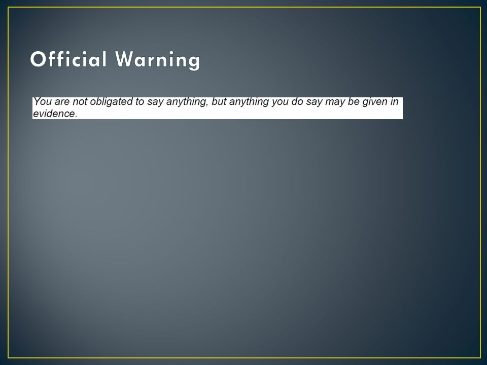 Official Warning