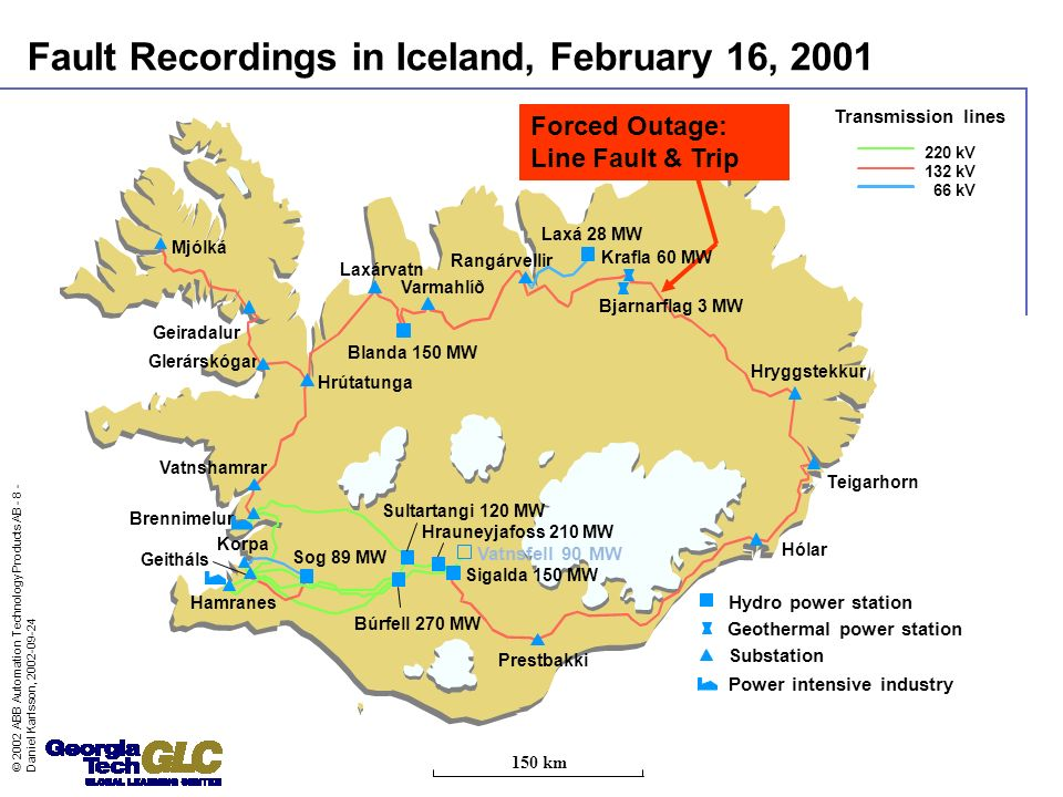 Fault Recordings in Iceland, February 16, 2001