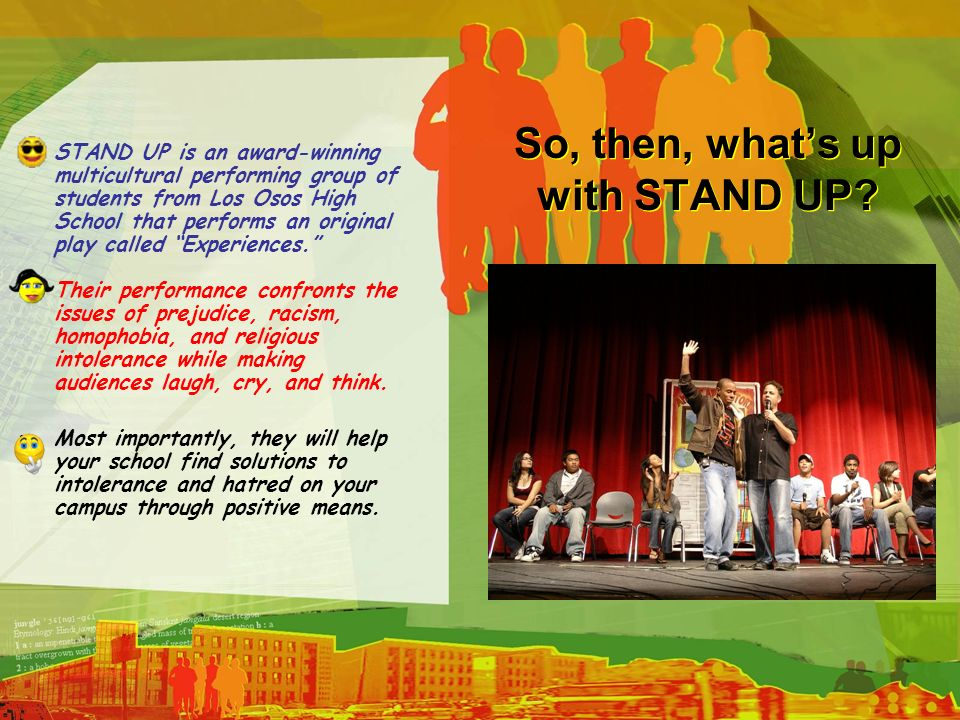 So, then, what's up with STAND UP