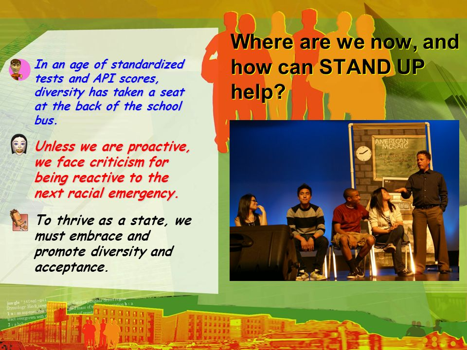 Where are we now, and how can STAND UP help