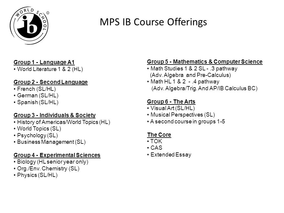 MPS IB Course Offerings