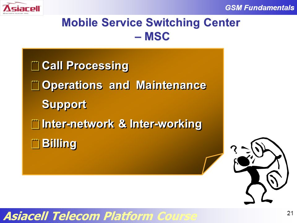 Mobile Service Switching Center – MSC