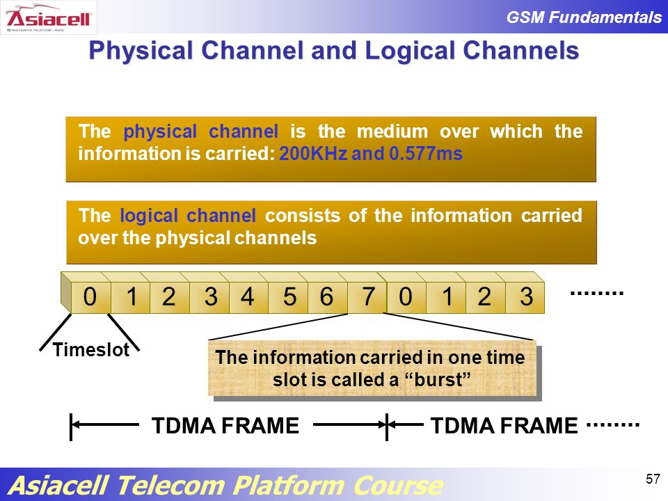 Physical Channel and Logical Channels
