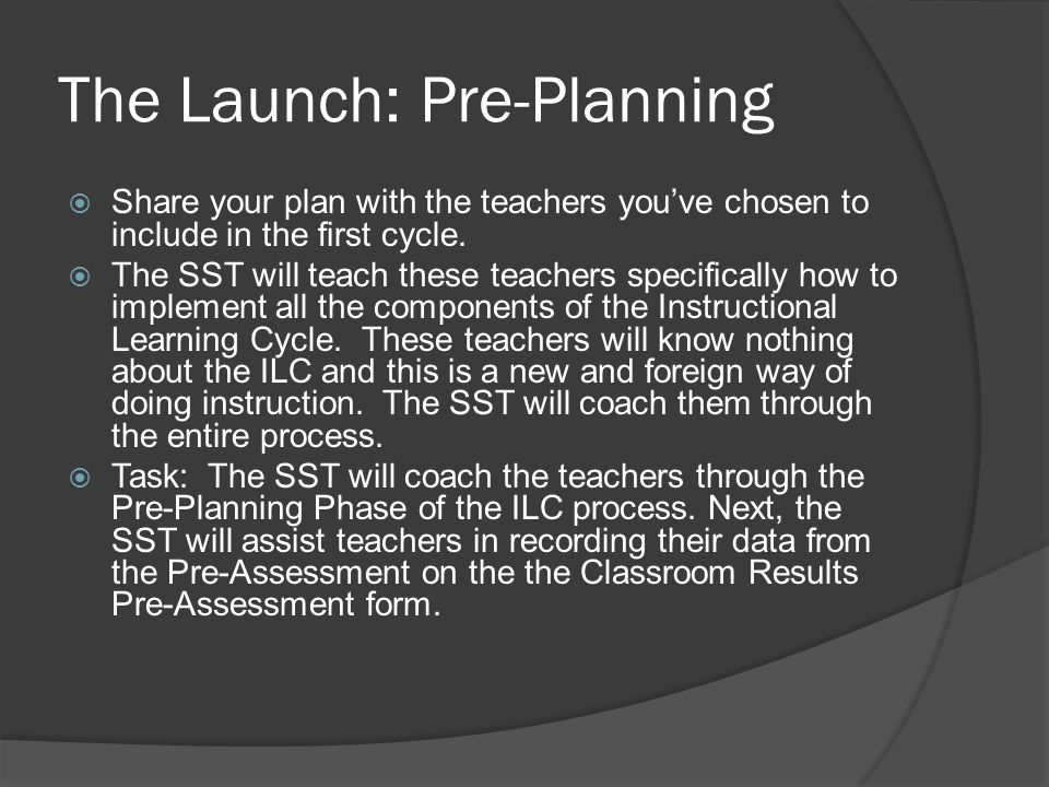 The Launch: Pre-Planning