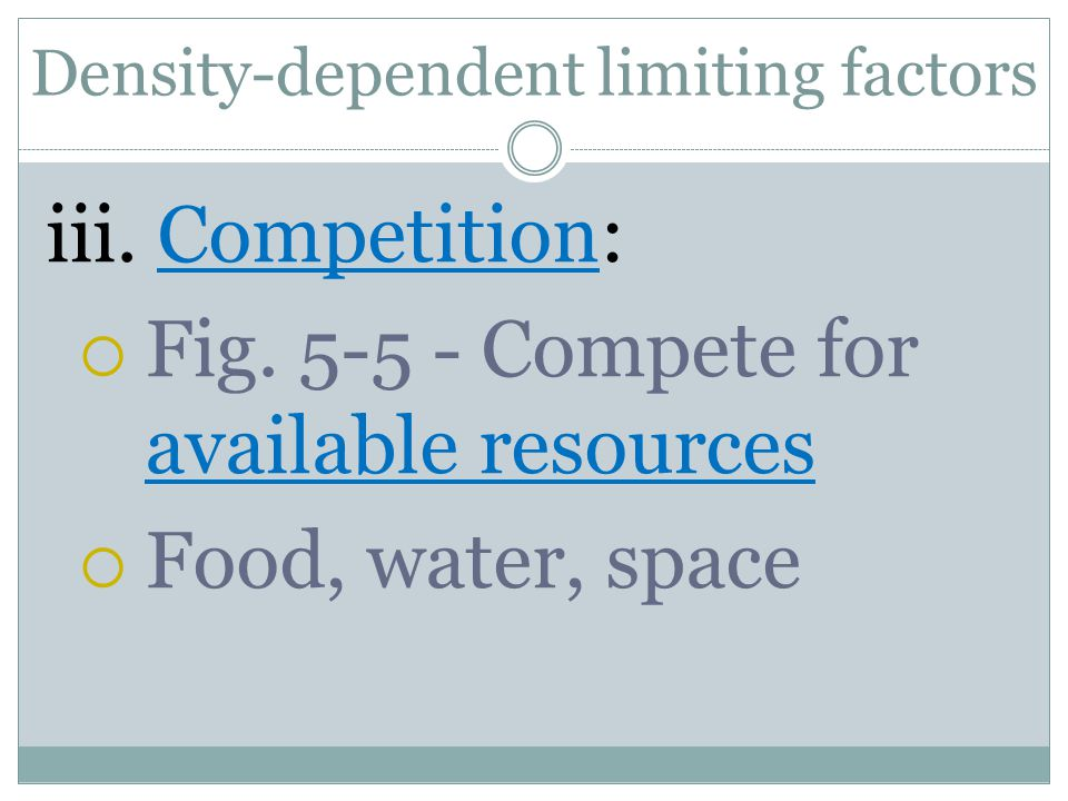 Density-dependent limiting factors