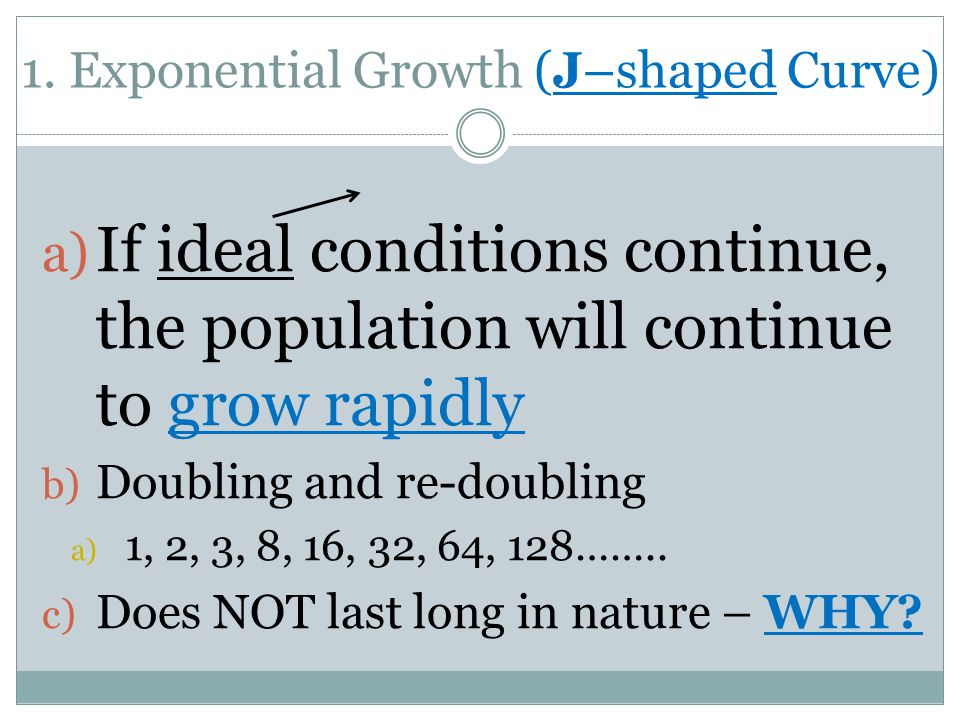 1. Exponential Growth (J–shaped Curve)